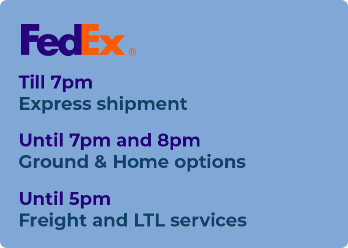fedex hours sunday