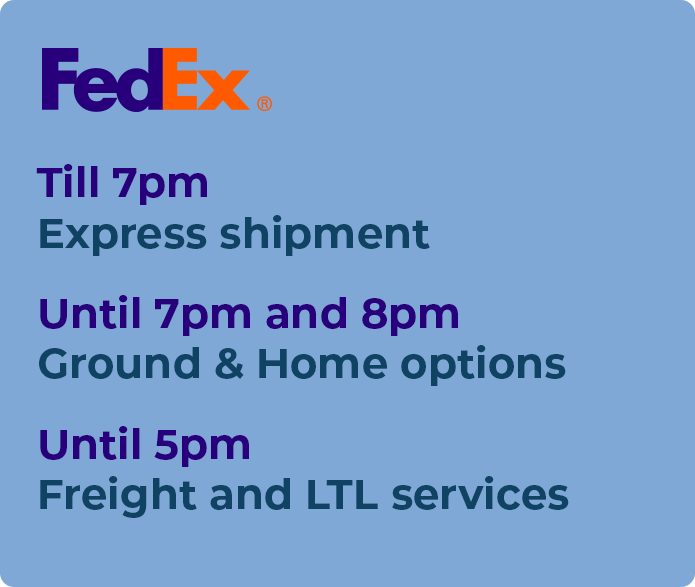 how late does fedex run
