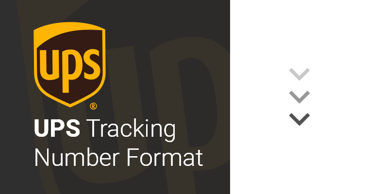 ups tracking number format