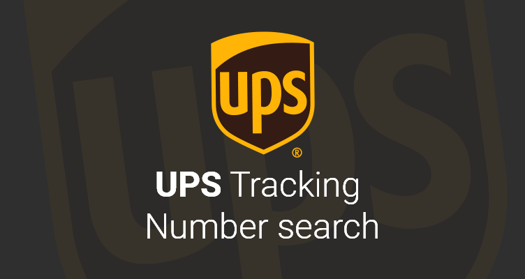 ups tracking number search